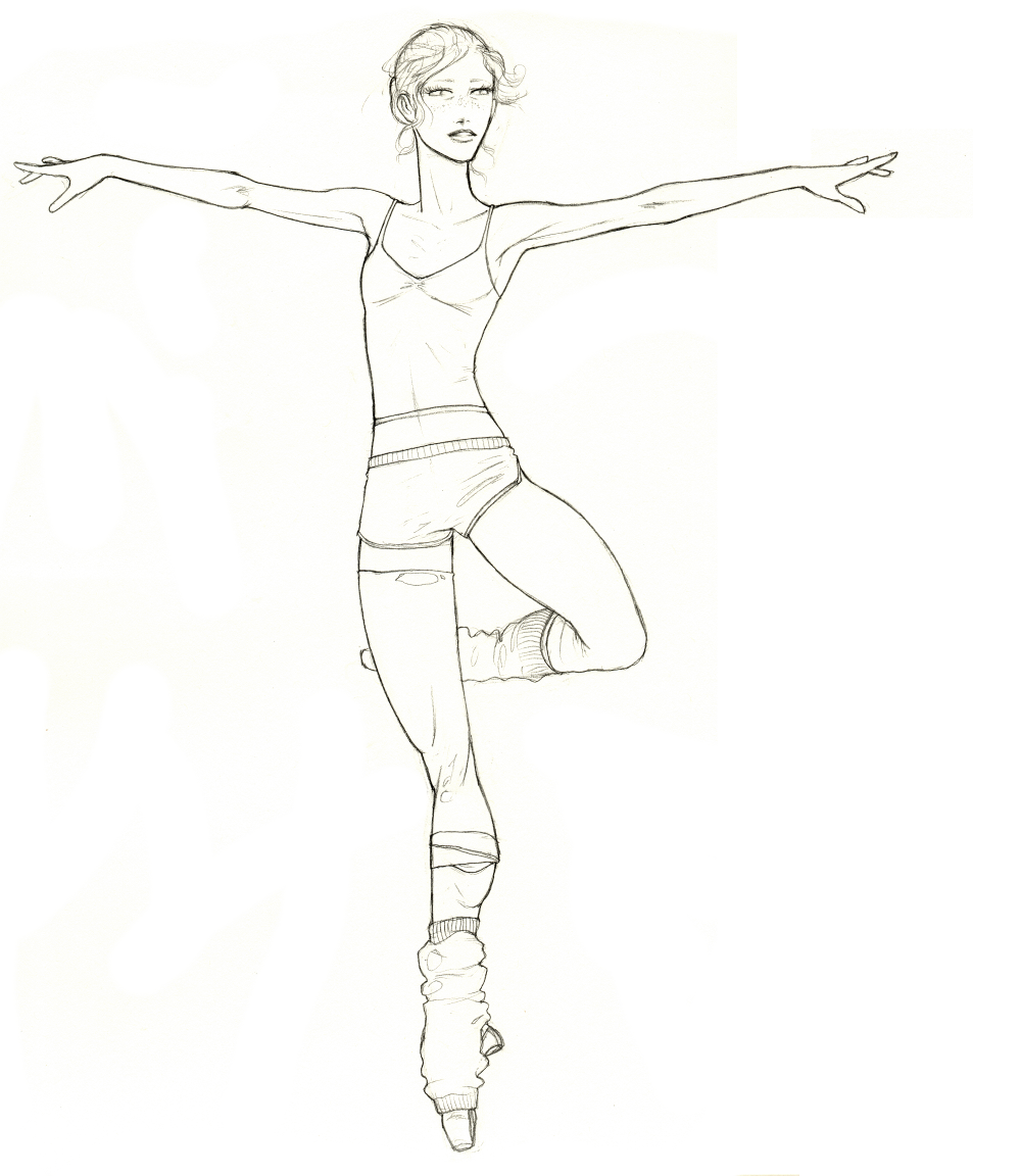 coloring pages ballet positions - photo#32